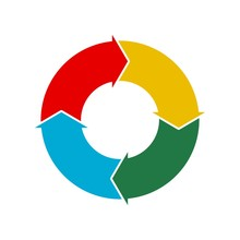 Circular Process Flow Arrows, Icon, Logo Or Sign
