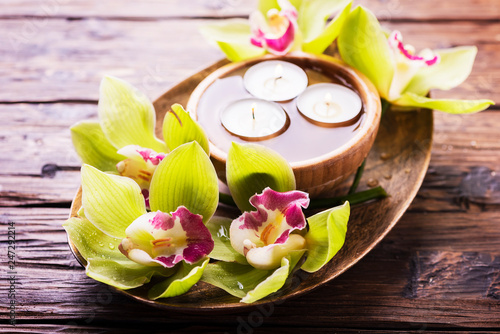 Fotografie, Obraz  orchid and candles