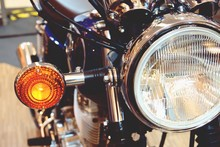 Bangkok,thailand-february 1, 2019:Motor Bike Detail-A Yamaha Motorcycle Was Shown At Seacon Square Bangkok Shopping Mall