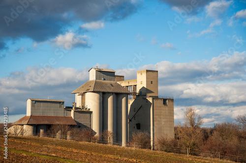 Fotografie, Obraz  Storage buildings on farmland