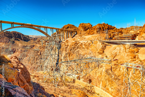 Foto op Canvas Verenigde Staten Famous and amazing Hoover Dam at Lake Mead, Nevada and Arizona Border.