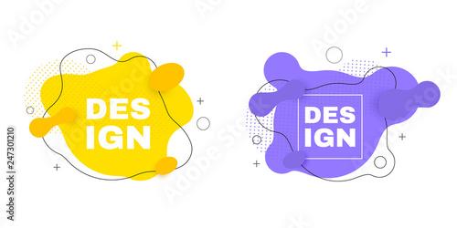 Fotografie, Obraz  Abstract vector banners. Geometric shapes. Trendy fluid design.