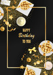 Happy Birthday Greeting Card with Festive Items
