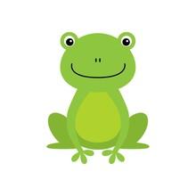 Cute Green Frog Cartoon Charac...