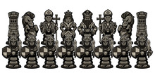 Chess Cartoon Figures Black