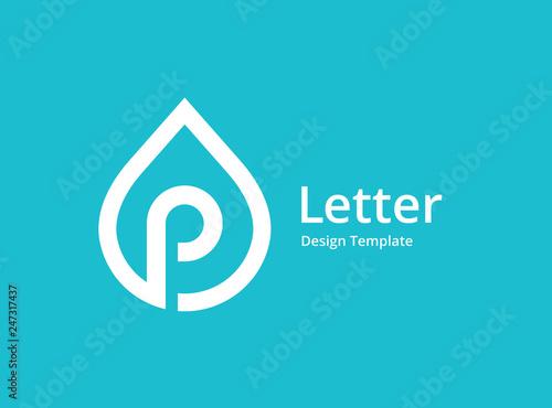 Fotografía Letter P water drop logo icon design template elements