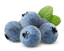 Blueberry, Clipping Path, Isol...