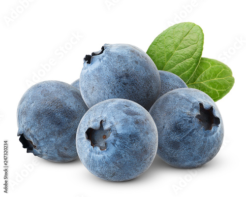 Carta da parati blueberry, clipping path, isolated on white background, full depth of field, hig