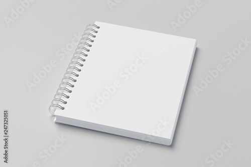 Photo sur Toile Spirale school notebook, spiral notepad on a table