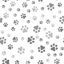 Dog Paw Seamless Pattern Vecto...