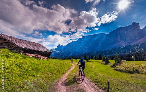 Obraz na plátně  Włochy, Italia, Dolomity, góry, droga chata, szałas piękne miejsca, relaks, odpo