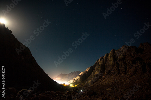 starry sky on Moses mountain Wallpaper Mural