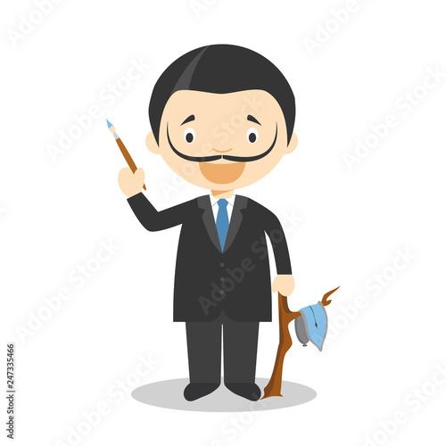 Photo Salvador Dali cartoon character