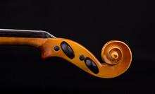 Details Of Violin Head Closeup...