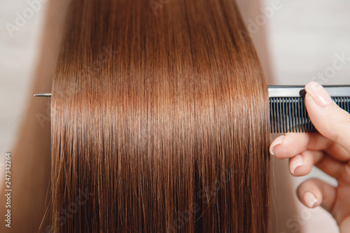 Smoothness and radiance of healthy hair Canvas-taulu