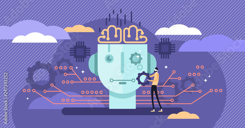 Fotografia Artificial intelligence or AI vector illustration