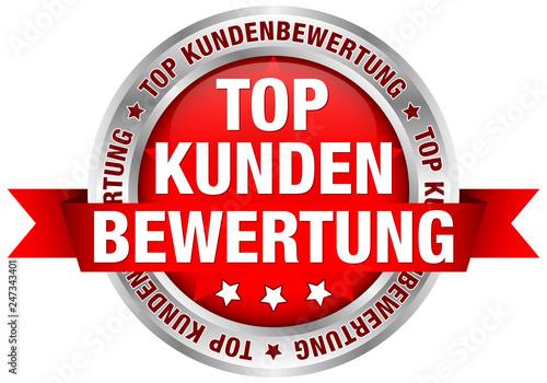 Button Banderole Top Kundenbewertung rot Wallpaper Mural