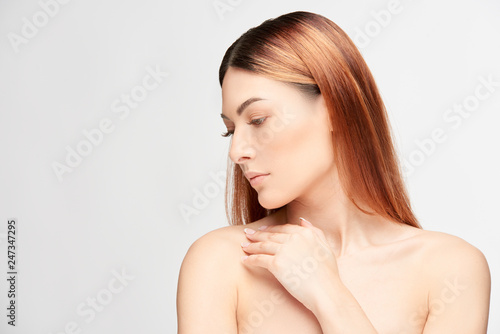 Fotografie, Obraz  Portrait of a beautiful young woman.