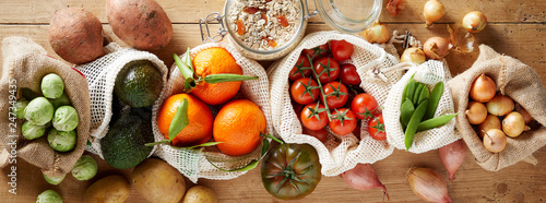 Fotomural  Organic vegetables assortment banner concept