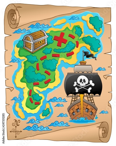 In de dag Piraten Pirate map theme image 5