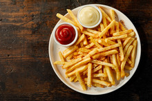 Plate Of French Fries With Sau...