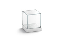 Blank White Glass Showcase Cub...