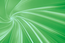 Abstract Green Background Of Twisting Three-dimensional Bands In The Tunnel 3D Illustration