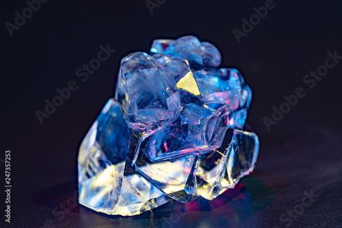 Fotografie, Obraz  Gemstone nugget. Clear rough diamond