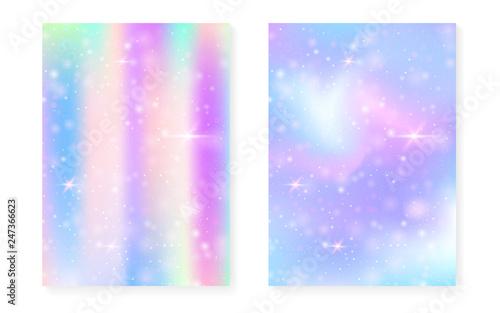 Kawaii Background With Rainbow Princess Gradient Magic