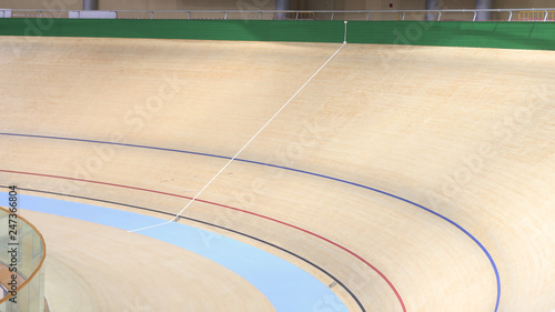 Photo  Professional indoor cycling track