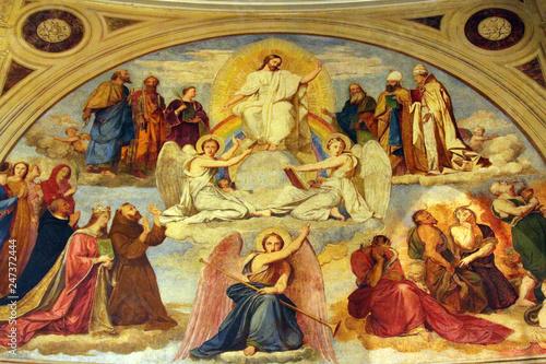 Carta da parati Last Judgment, fresco in the  St