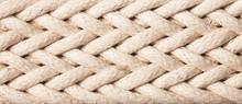 Horizontal Linen Rope Yarn Stripe Texture.