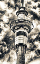 Auckland Tower Against Blue Sk...