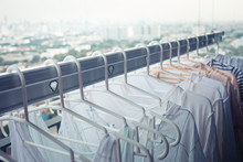 Drying Clothes On Clothesline ...