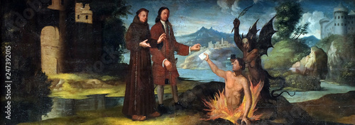 Photo  The dead man testifies to the innocence of father of Saint Anthony, altarpiece i