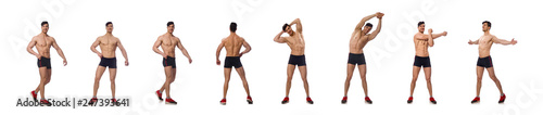 Fotografie, Obraz Muscular man isolated on the white background