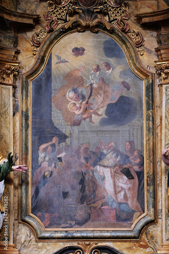 Fotografija Saint Joseph holding baby Jesus altarpiece in the church of Saint Leonard of Nob