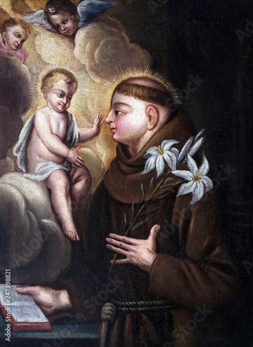 Photo Saint Anthony of Padua in the church of Saint Leonard of Noblac in Kotari, Croat