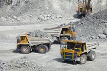 Large Mining Trucks In A Quarr...