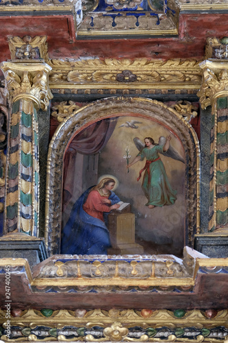 Cuadros en Lienzo The Annunciation of the Virgin Mary altarpiece in the Church of Saint Michael in