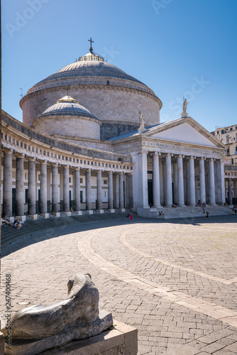Piazza del Plebiscito, Naples, Italy Tablou Canvas