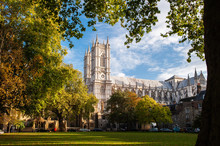 Westminster Abbey In London During The Autumn Season