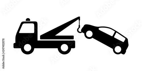 auto pomoc - holowanie samochodu - fototapety na wymiar