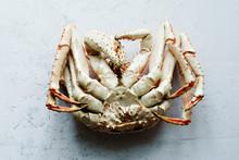 Big Whole Alaskan Crab Upside Down