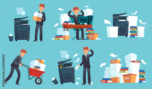 Carta da parati Office documents copier