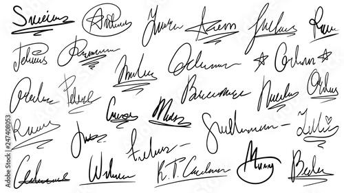 Photo Handwritten signature