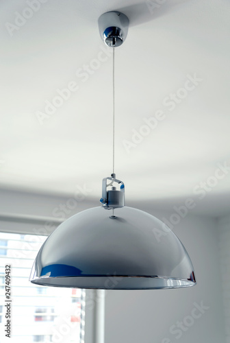 Fotografija  Large lamp with a metal chrome-plated