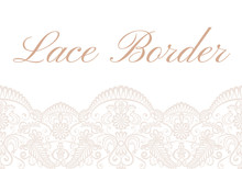 Template Of Card With White Lace Border On Beige Background