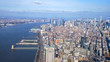 The Hudson River in New York and Manhattan from above