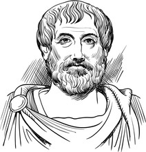 Aristotle Portrait In Line Art...